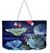 Lotus On Dark Water Weekender Tote Bag
