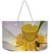 Lotus Pollinator Weekender Tote Bag