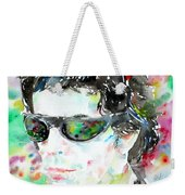Lou Reed Watercolor Portrait.2 Weekender Tote Bag
