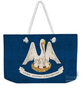 Louisiana State Flag Weekender Tote Bag