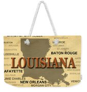 Louisiana State Pride Map Silhouette  Weekender Tote Bag