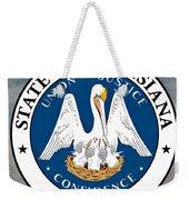 Louisiana State Seal Weekender Tote Bag