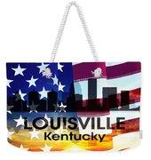 Louisville Ky Patriotic Large Cityscape Weekender Tote Bag
