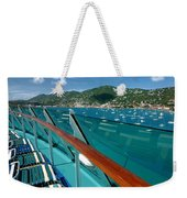 Lounge Chairs On Cruise Ship Weekender Tote Bag