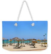 Lounging At The Beach Weekender Tote Bag by Corinne Rhode