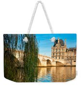 Louvre Museum And Pont Royal - Paris - France Weekender Tote Bag