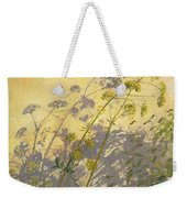 Lovage Clematis And Shadows Weekender Tote Bag by Timothy  Easton