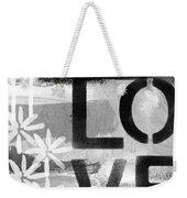Love- Abstract Painting Weekender Tote Bag by Linda Woods