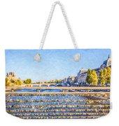 Love Across The Seine Weekender Tote Bag