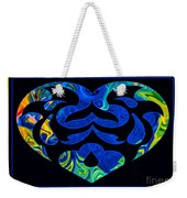 Love And Light Sharing Space Abstract Shapes And Symbols Artwork Weekender Tote Bag