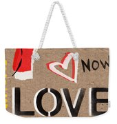 Love And Peace Now Weekender Tote Bag