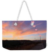 Love And Sunset Weekender Tote Bag