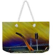 Love At Cupid's Span San Francisco Bay Bridge Weekender Tote Bag