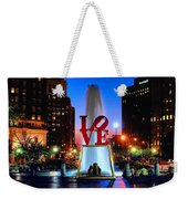 Love At Night Weekender Tote Bag