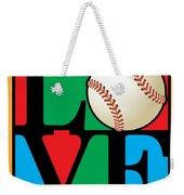 Love Baseball Weekender Tote Bag