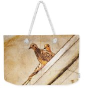 Love Birds On My Balcony Weekender Tote Bag