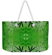 Love Blossom Nature Green Border Weekender Tote Bag