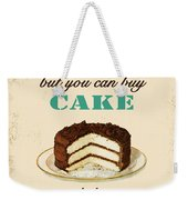 Love Cake Typography Weekender Tote Bag