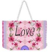 Love Cherry Blossom Weekender Tote Bag