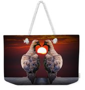 Love Dove Birds At Sunset Weekender Tote Bag