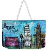 Love For London Weekender Tote Bag