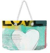 Love Graffiti Style- Print Or Greeting Card Weekender Tote Bag by Linda Woods