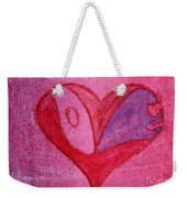 Love Heart 2 Weekender Tote Bag