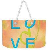 Love In Bright Blue Weekender Tote Bag