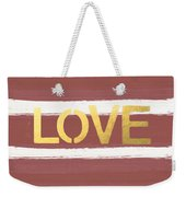Love In Gold And Marsala Weekender Tote Bag
