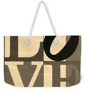 Love In Sepia Weekender Tote Bag