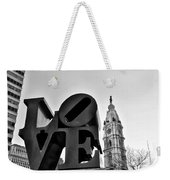 Love Is Just Black And White Weekender Tote Bag