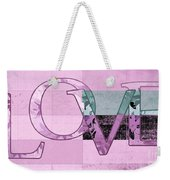 Love - J249115131t-grape Weekender Tote Bag