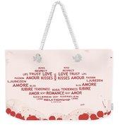Love Kiss Digital Art Weekender Tote Bag