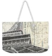 Love Letter From Paris Square Weekender Tote Bag