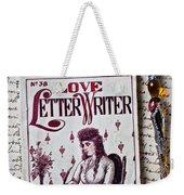 Love Letter Writer Book Weekender Tote Bag