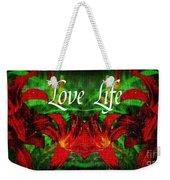 Love Life Mirrored Lilies Weekender Tote Bag