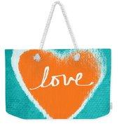 Love Weekender Tote Bag by Linda Woods