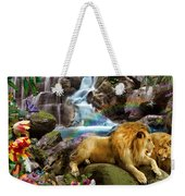 Love Lion Waterfall Weekender Tote Bag