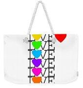 Love Love Love Weekender Tote Bag