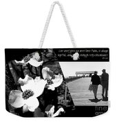 Love Never Gives Up Weekender Tote Bag