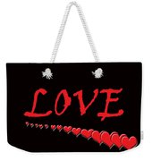 Love On Black Weekender Tote Bag