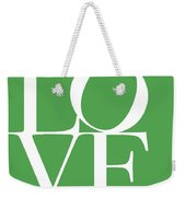 Love On Green Weekender Tote Bag