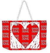 Love On Love Weekender Tote Bag