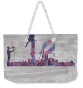 Love Over Paris Weekender Tote Bag