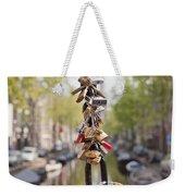 Love Padlocks In Amsterdam Weekender Tote Bag