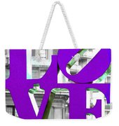 Love Philadelphia Purple Weekender Tote Bag