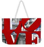 Love Philadelphia Red Weekender Tote Bag