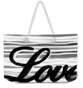 Love Sign With Black And White Stripes Weekender Tote Bag