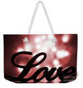 Love Sign With Red Sparkle Weekender Tote Bag