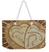 Love Song Of Our Hearts Weekender Tote Bag